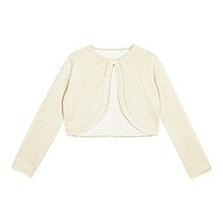 RJR.John Rocha - Girls' gold sparkle cardigan