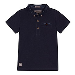 RJR.John Rocha - Boys' navy spotted collar polo shirt