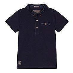 RJR.John Rocha - Boys' navy spotted collar polo shirt