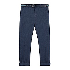 RJR.John Rocha - Boys' navy belted trousers