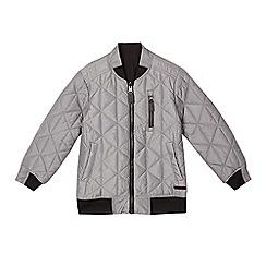 RJR.John Rocha - Boys' silver quilted reversible bomber jacket