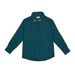 RJR.John Rocha - Boys' dark green textured shirt and bow tie set