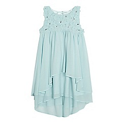 RJR.John Rocha - Girls' green ruffle dress