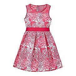 RJR.John Rocha - Girls' dark pink floral lace prom dress