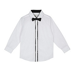RJR.John Rocha - Boys' white long sleeve shirt with bow tie set