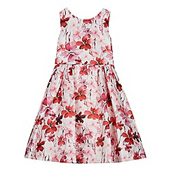 RJR.John Rocha - Girls' red pansy print dress