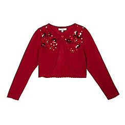 RJR.John Rocha - Girls' red sequin embellished cardigan
