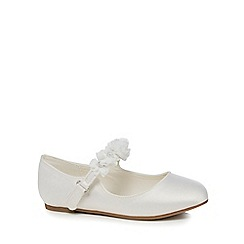 RJR.John Rocha - Girls' white corsage strap pumps