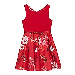 RJR.John Rocha - Girls' red floral print dress
