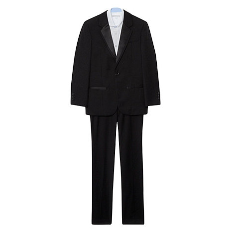 bluezoo - Boy+s black tuxedo jacket and trousers set