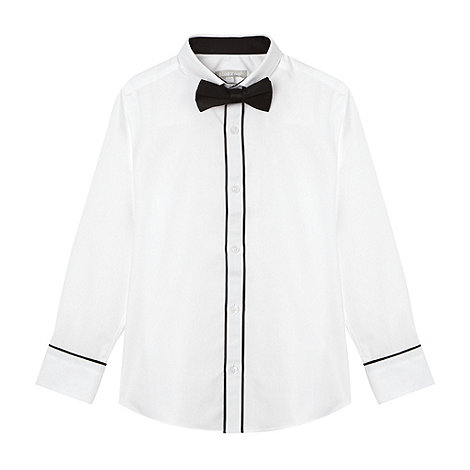 bluezoo - Boy's white shirt and bow tie set