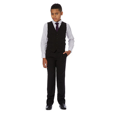 bluezoo - Boy+s brown waistcoat, shirt and tie set