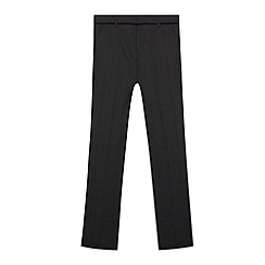 bluezoo - Boy's grey slim fit checked trousers