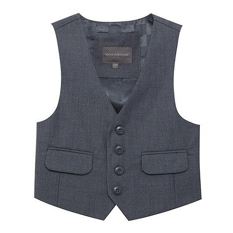 RJR.John Rocha - Boy+s grey stab stitch four button waistcoat