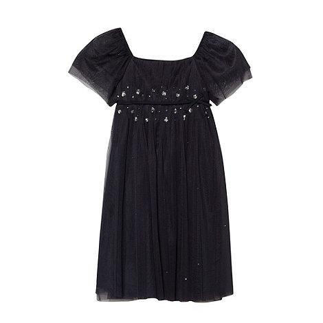 Tigerlily - Girl+s navy glitter dress