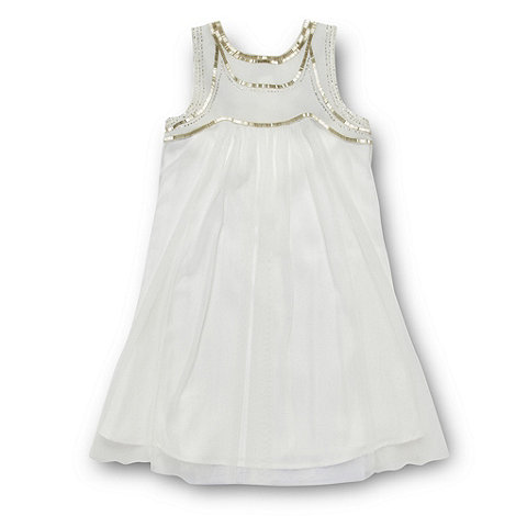 Tigerlily - Girl's ivory beaded bodice dress