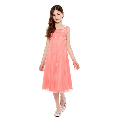Tigerlily - Girl+s pink beaded bodice dress