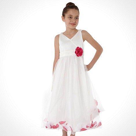 Tigerlily - Girl+s ivory floating petal dress