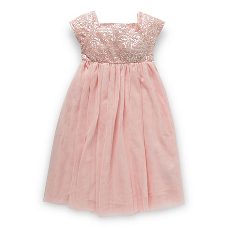Butterfly by Matthew Williamson - Designer girl+s light pink sequin bodice dress