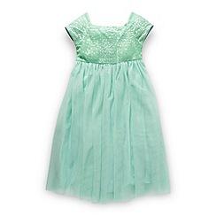 Butterfly by Matthew Williamson - Designer girl's light green sequin bodice dress