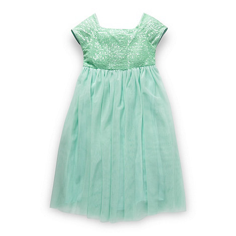 Butterfly by Matthew Williamson - Designer girl+s light green sequin bodice dress