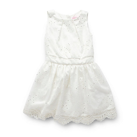 Butterfly by Matthew Williamson - Designer girl+s ivory lace sequin dress