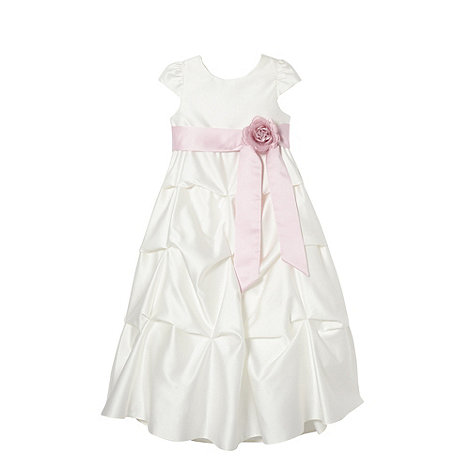 Pearce II Fionda - Designer girl+s rose tiered occasion dress