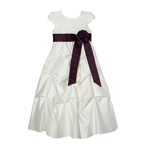 Pearce II Fionda - Designer girl+s plum tiered occasion dress