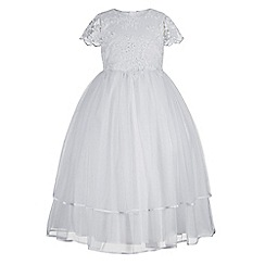 RJR.John Rocha - Girls' white bead embellished lace dress