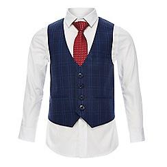 RJR.John Rocha - Boys' blue shirt, waistcoat and tie set