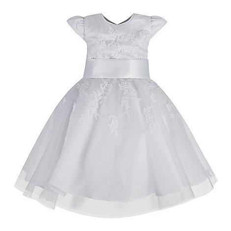 Pearce II Fionda - Designer girl+s white floral embellished dress and bolero