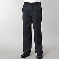 St George by Duffer - Boy's navy pinstriped trousers