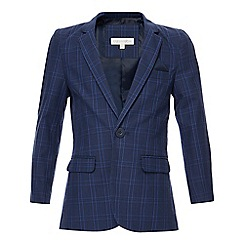 RJR.John Rocha - Boys' navy checked blazer jacket