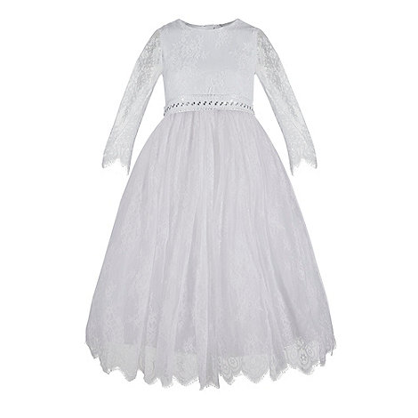Pearce II Fionda - Designer girl+s white soft faux fur shrug