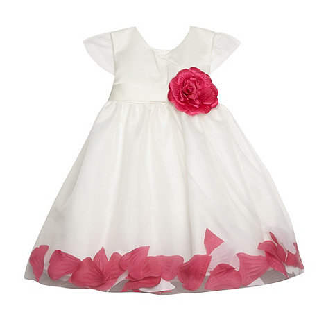 Tigerlily - Girl+s pink floating petal corsage occasion dress