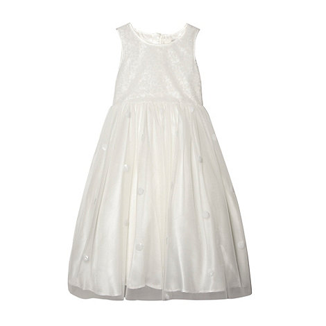 Pearce II Fionda - Designer girl+s ivory embellished sequin flower girl dress
