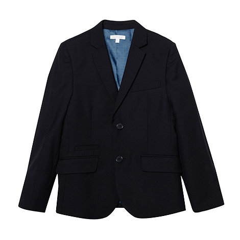 bluezoo - Boy+s navy woven suit jacket