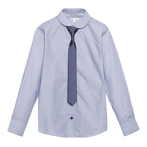 bluezoo - Boy+s lilac textured shirt and tie