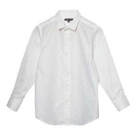 RJR.John Rocha - Designer boy+s white textured shirt