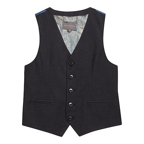 RJR.John Rocha - Designer boy+s navy five button waistcoat