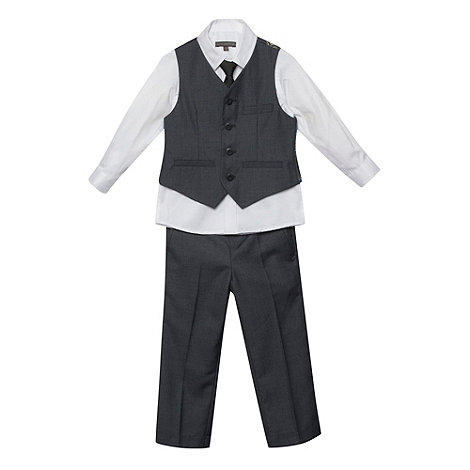 RJR.John Rocha - Designer boy+s grey four piece suit