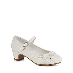 RJR.John Rocha - Girls' ivory lace bead embellished heeled shoes