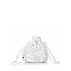 Debenhams - White embellished butterfly drawstring bag