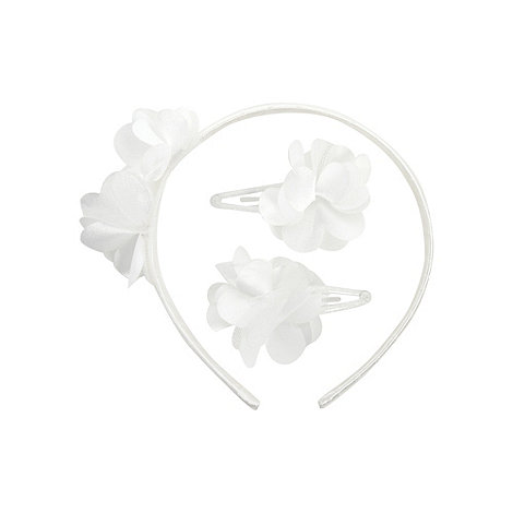 Debenhams - Girl+s ivory rosebud hair clip set