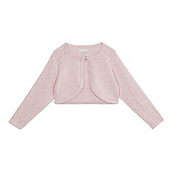 RJR.John Rocha - Girls' light pink pointelle cardigan
