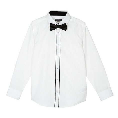 RJR.John Rocha - Designer boy+s white shirt and bow tie