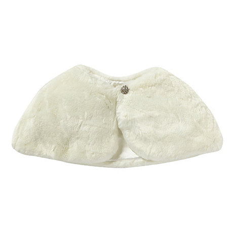 Tigerlily - Girl's ivory faux fur shrug