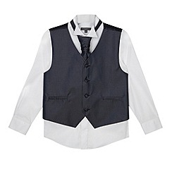 RJR.John Rocha - Designer boy's navy waistcoat, shirt and tie set
