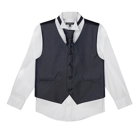 RJR.John Rocha - Designer boy+s navy waistcoat, shirt and tie set