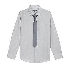 RJR.John Rocha - Designer boy's grey spotted shirt and tie set
